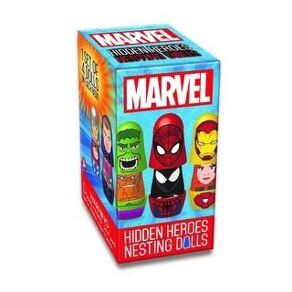 Marvel Blind Boxed Hidden Heroes Nesting Dolls, 1 Set of 4 Dolls - multi