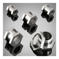 Surgical Surgical Steel Screw Fit Hexagon Flesh Tunnel (Sold Individually)