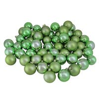 "60ct Shiny and Matte Sage Green Shatterproof Christmas Ball Ornaments 2.5"" (60mm)"