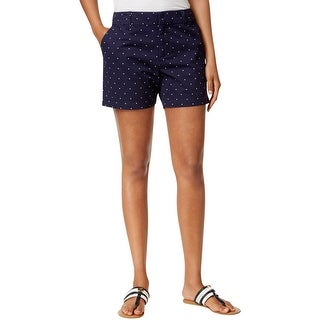 Tommy Hilfiger Womens Bermuda Shorts Twill Polka Dot