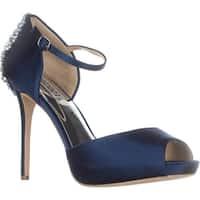 Badgley Mischka Dawn Mary Jane Dress Sandals, Navy - 9.5 us