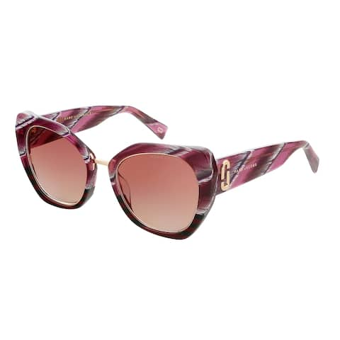Marc Jacobs MARC313GS 0KVN Stripe Burgundy Square Sunglasses - 53-21-145
