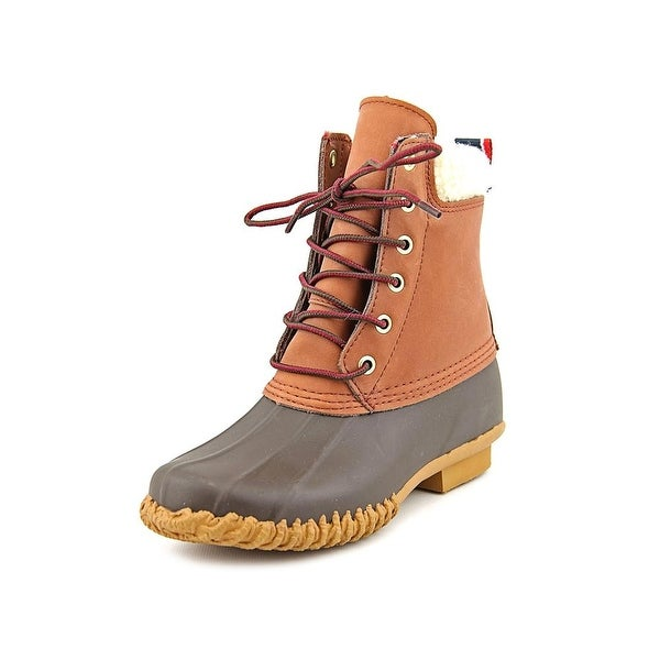 Tommy Hilfiger Russel Women Round Toe Leather Brown Snow Boot