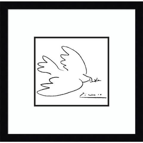 Porch & Den Pablo Picasso 'Dove of Peace' Framed Art Print
