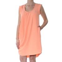 7c9ec93db3f RACHEL ROY Womens Orange Sleeveless Scoop Neck Above The Knee Shift Dress  Size  M