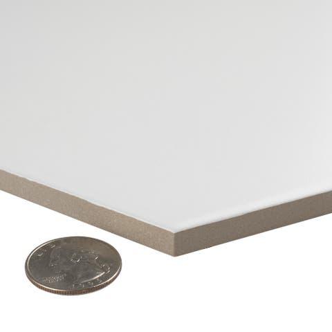 SomerTile 8.625x9.875-inch Textilis Basic White Hex Porcelain Floor and Wall Tile