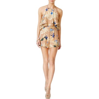 ASTR the Label Womens Romper Ruffle Tiered (Option: l - paradise floral)