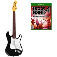 Rock Band 4 Wireless Fender Stratocaster Guitar Controller Bundle  Refurbished