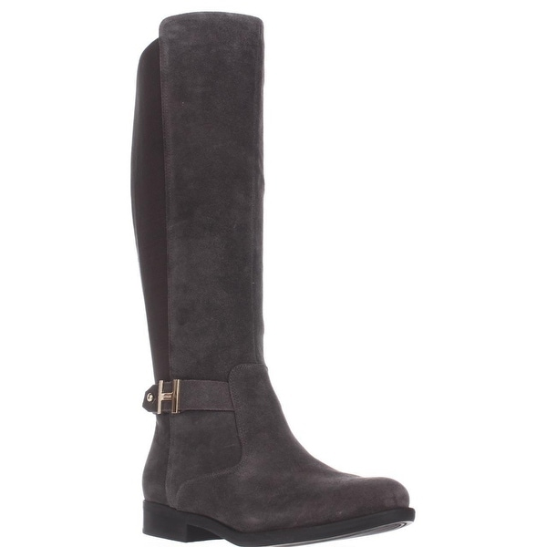 Tommy Hilfiger Suprem Knee High Riding Boots, Gray Multi