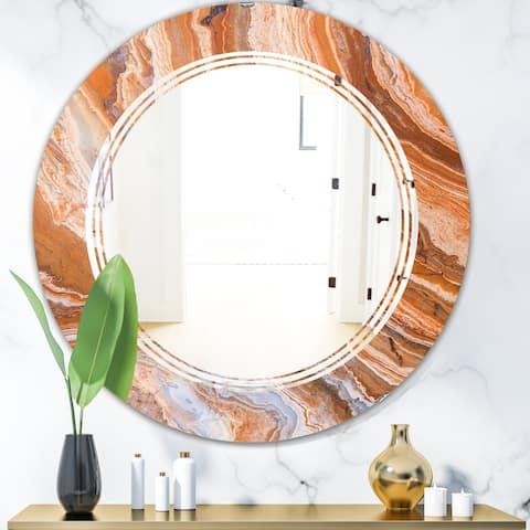 Designart 'Marbled Geode 2' Modern Round or Oval Wall Mirror - Triple C
