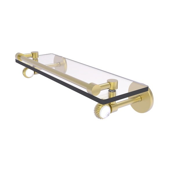 Allied Brass Clearview Collection Gallery Rail Glass Shelf with Twisted Accents