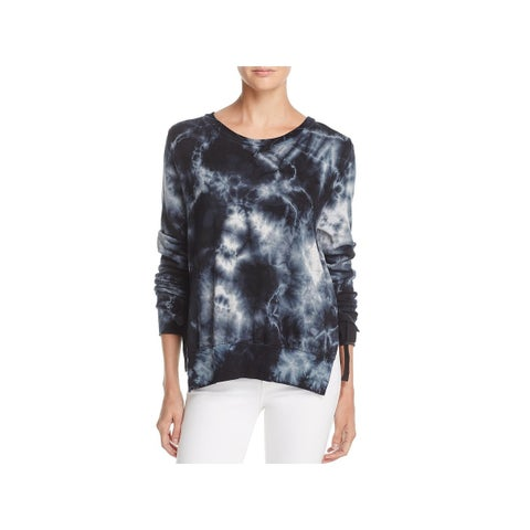 Pam & Gela Womens Sweatshirt Tea Stain Tie Sides - M