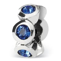 Sterling Silver Reflections Sept Swarovski Elements Birthstone Bead (4mm Diameter Hole)