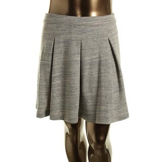 Tommy Hilfiger Womens Heathered Pleated A-Line Skirt - XL