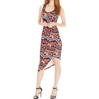 Material Girl Womens Juniors Casual Dress Printed Sleeveless - L
