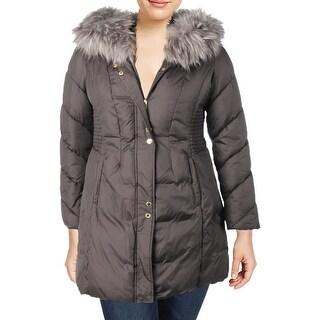 Via Spiga Womens Parka Coat Winter Down