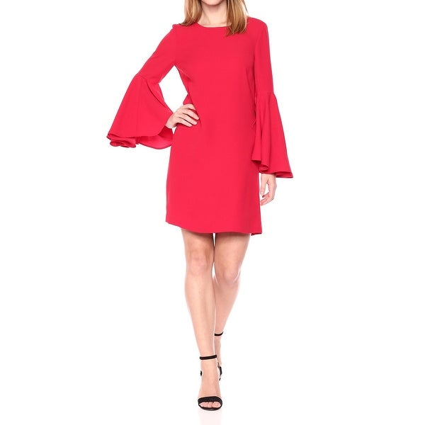 93fa9d5869e9e CATHERINE Catherine Malandrino Red Women XL Bell-Sleeve Shift Dress