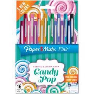 Assorted - Paper Mate Candy Pop Flair Ultra Fine Felt Tip Pens 16/Pkg