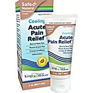 King Bio Homeopathic Acute Pain Relief Cream 3-ounce