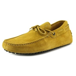 Tod's New Laccetto Occh. New Gommini 122 Youth Moc Toe Suede Tan Loafer