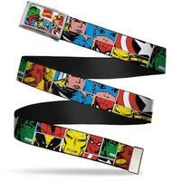 Marvel Comics Marvel Comics Logo Fcg Chrome Marvel Superhero Comic Web Belt
