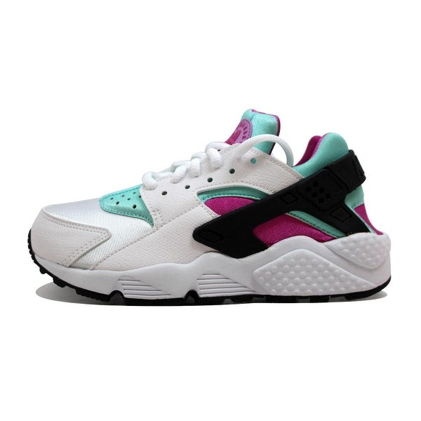 Nike Women's Air Huarache Run White/Fuchsia Flash-Artisan Teal 634835-104