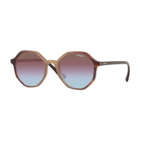 Vogue VO5222S 2639H7 52 Opal Beige Gliett Grad Havana Woman Irregular Sunglasses