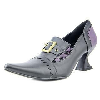 Ellie Nadia Women Pointed Toe Leather Black Heels