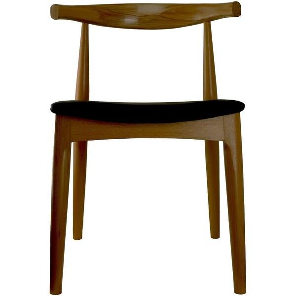 Shop 2xhome Walnut Dark Wood PU Leather Cushion Chair