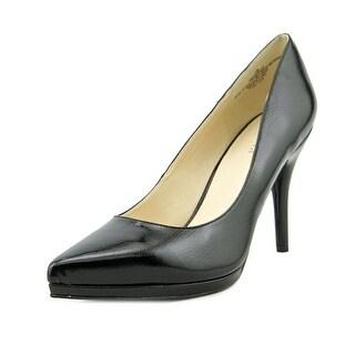 Nine West 25016620 Women Pointed Toe Synthetic Black Heels
