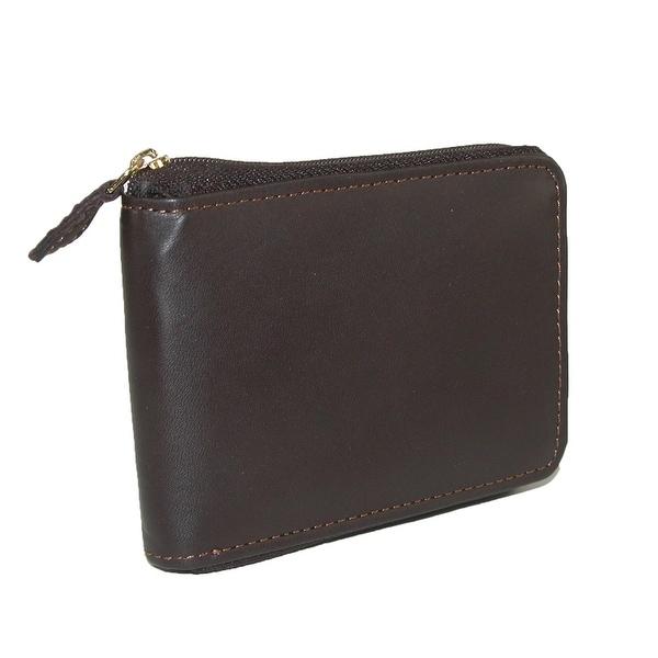 DOPP Men's Leather Regatta Zip-Around Convertible Billfold Wallet - One size