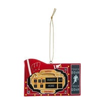Wisconsin Badgers Scoreboard Ornament