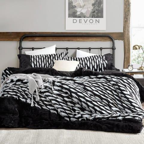 Tiger Lion - Coma Inducer Oversized Comforter - Zebra Black