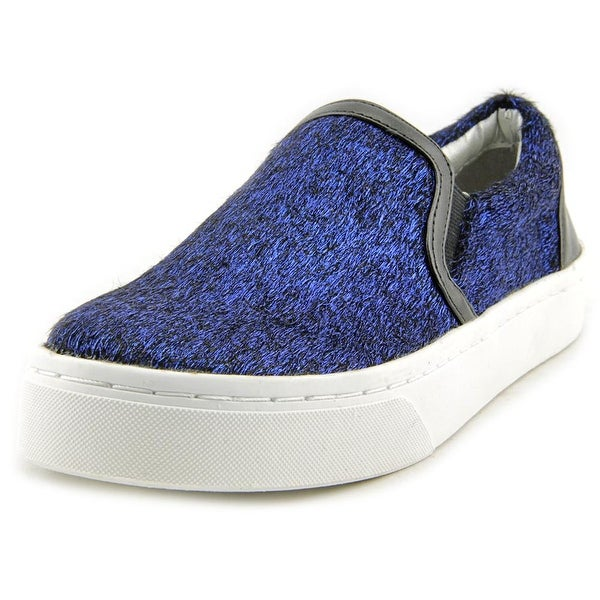 Luichiny Vay Kay Women Round Toe Canvas Blue Loafer