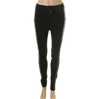 Rachel Rachel Roy Womens Juniors Ponte Faux Leather Trim Skinny Pants - 24
