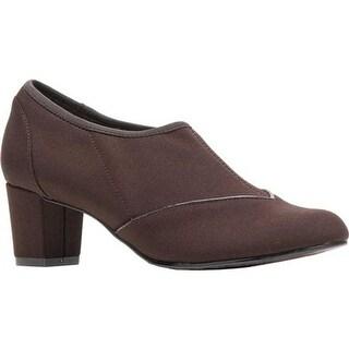 Soft Style Women's Glori Shootie Dark Brown Stretch Fabric