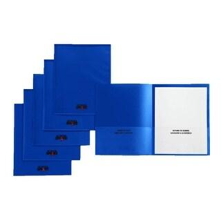 School Smart Take Home Heavy-Duty Folder, Blue, Pack of 24