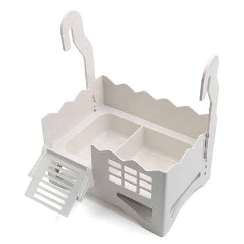 White Plastic Tortoise Resting Feeding Platform for Aquarium Turtle Tank