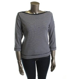 LRL Lauren Jeans Co. Womens Casual Top Cotton Striped