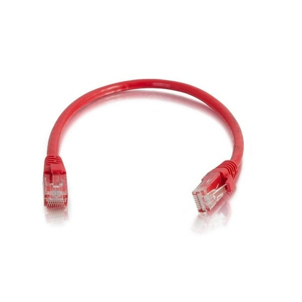 C2g 15223 3Ft Cat5e Snagless Unshielded Utp Network Patch Ethernet Cable - Red