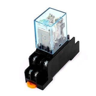 Unique Bargains MY2N-J 110VAC Coil 8Pin DPDT Electromagnetic Power Relay w Socket Base