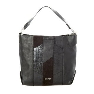 Nine West Womens Medley Up Hobo Handbag Faux Leather Convertible - LARGE
