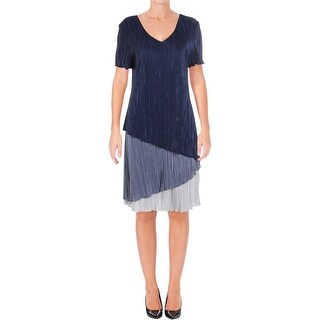 Connected Apparel Womens Casual Dress Textured Short Sleeves - 12