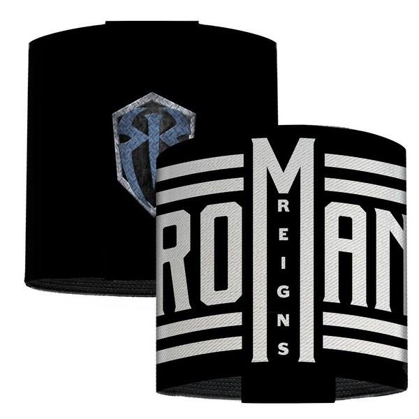 Roman Reigns Roman Badge Icons Black White Elastic Wrist Cuff