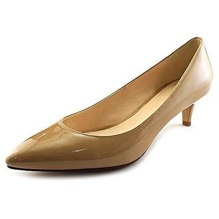 Cole Haan Womens Juliana Patent Pointed Toe Kitten Heels - 10 medium (b,m)