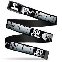 Hemi Elephant Logo Fcg Black White  Chrome Hemi 426 Elephant Logo 50 Web Belt