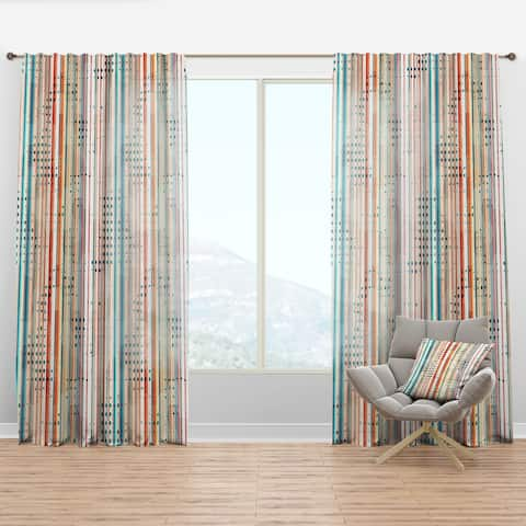 Carson Carrington Tangsatter 'Grunge Line' Modern & Contemporary Curtain Panel