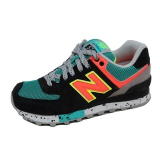 New Balance Women's 574 Classics Black/Orange 90s Outdoor Pack WL574OBD  Size 5