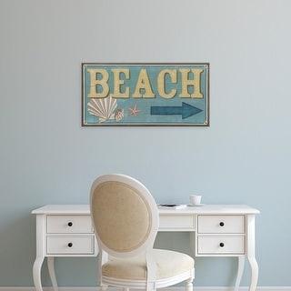 Easy Art Prints June Erica Vess's 'Shoreline Signs III' Premium Canvas Art