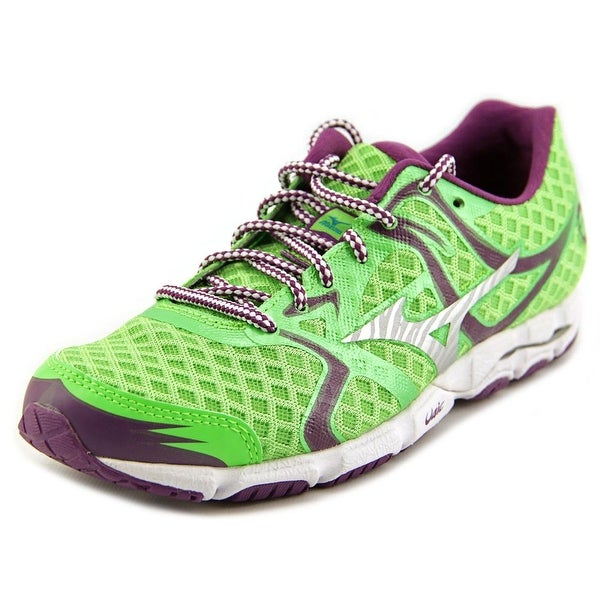 Mizuno Wave Hitogami Women Green/Silver/Purple Running Shoes